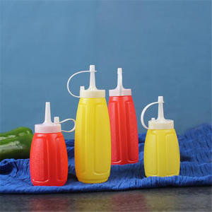 200300400ML Condiment Sauce Bottles Plastic Squeeze Bottle Ketchup Salad Cruet Bin Oil Vinegar Bottle Kitchen Accessories