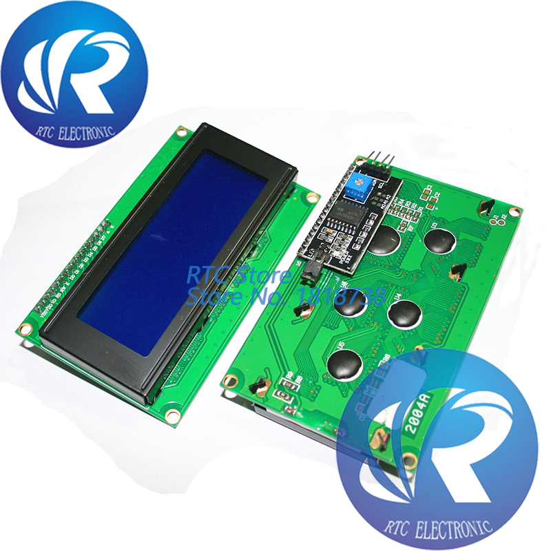 1 шт. LCD2004 + I2C 2004 20x4 2004A синий/зеленый экран HD44780 символ LCD/w IIC/I2C серийный интерфейс адаптер модуль