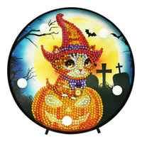 HA CONDOTTO LA Lampada FAI DA TE Pittura Diamante Parziale Trapani Speciale-a forma di Decorazione Di Halloween