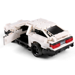 Image 3 - حقيقي إذن تكنيك الإبداعية MOC سيارة الأولي D تويوتا AE86 الكرتون موتور اللبنات الطوب متوافق اللعب