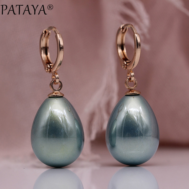 11 11 PATAYA New Special Price White Shell Pearl Long Earrings 585 Rose Gold Women Party.jpg 640x640 - 11.11 PATAYA New Special Price White Shell Pearl Long Earrings 585 Rose Gold Women Party Fashion Jewelry Water Drop Earrings