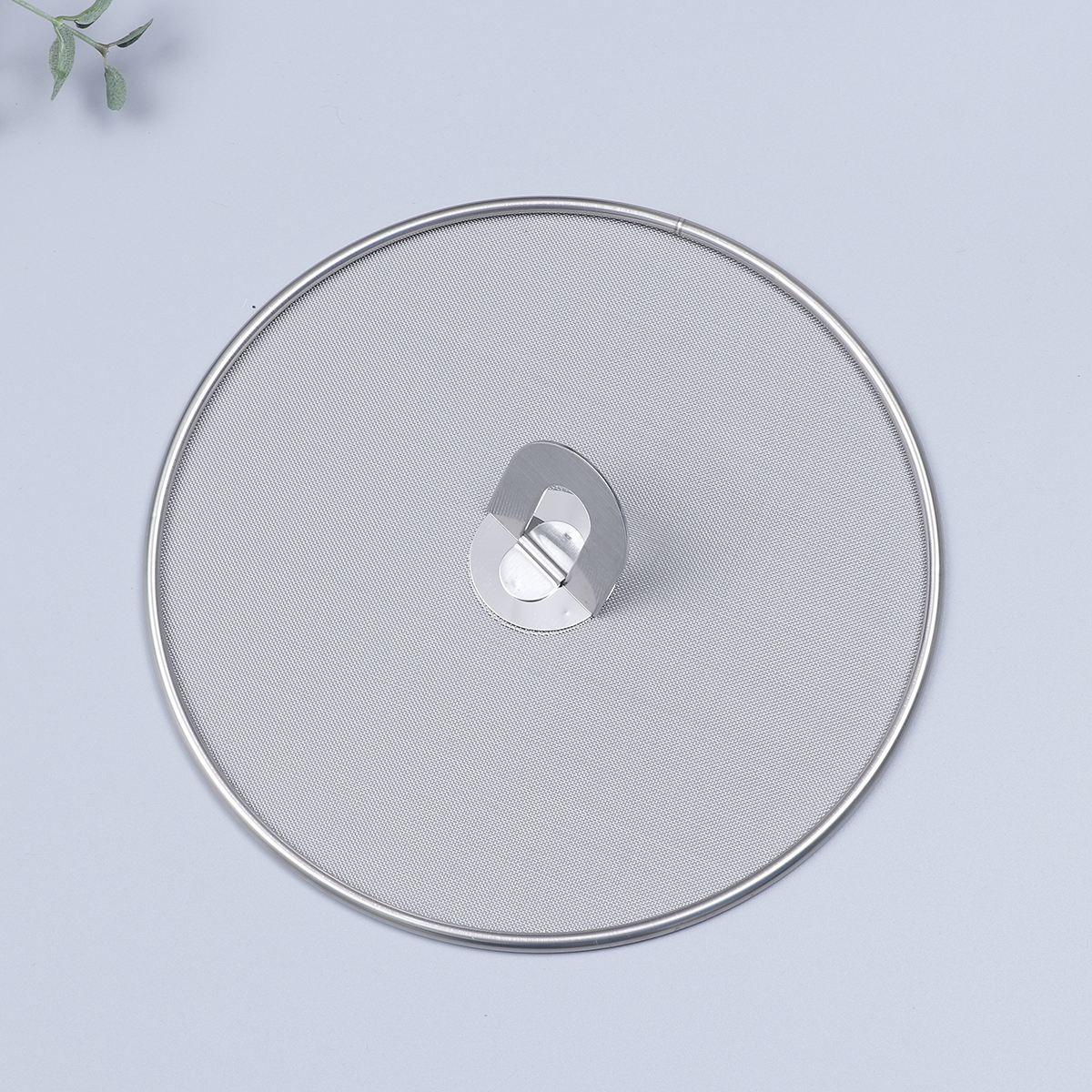 Image 3 - 3 Pieces Splatter Screen Mesh Pot Lid Cover Oil Frying Pan Lid Explosion Proof Smoke Splash Proof Insulation Oil Filter CoverCookware Lids   -