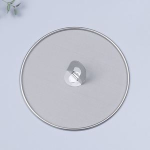 Image 3 - 3 Pieces Splatter Screen Mesh Pot Lid Cover Oil Frying Pan Lid Explosion Proof Smoke Splash Proof Insulation Oil Filter Cover