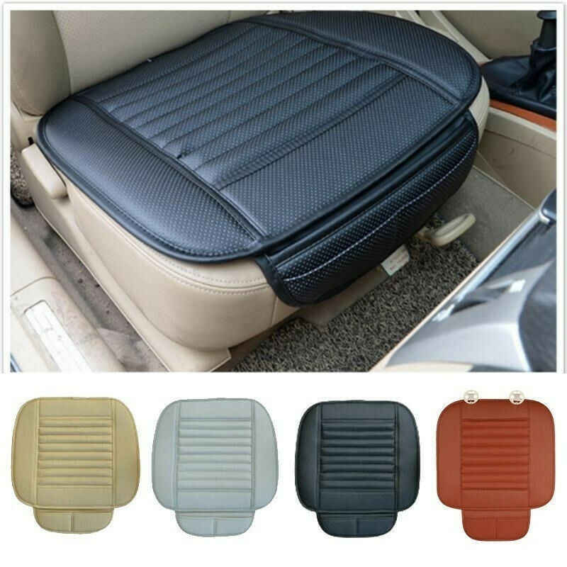 2019 Fashion Creative Universal PU Leather Car Front Seat Cushion Protector Pad Driver Mat Cushion  1PC