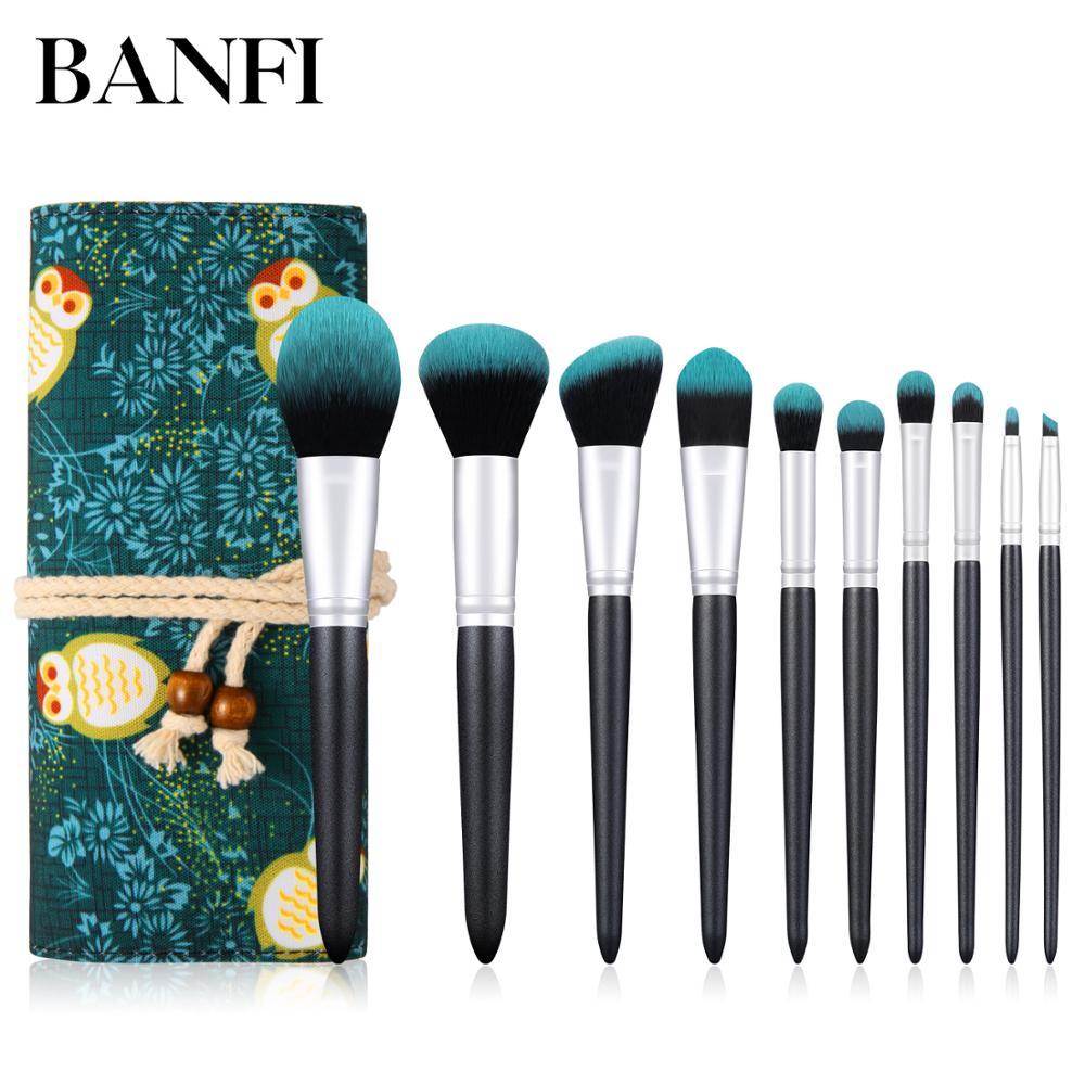 makeup brushes professional 10pcs brush tools  Make Up Brushes Cosmetics set make up