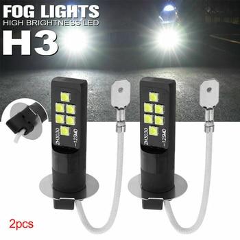 2pcs LED Fog Light Bulb Lights H3 Universal High Bright 12V Car Auto Accessories