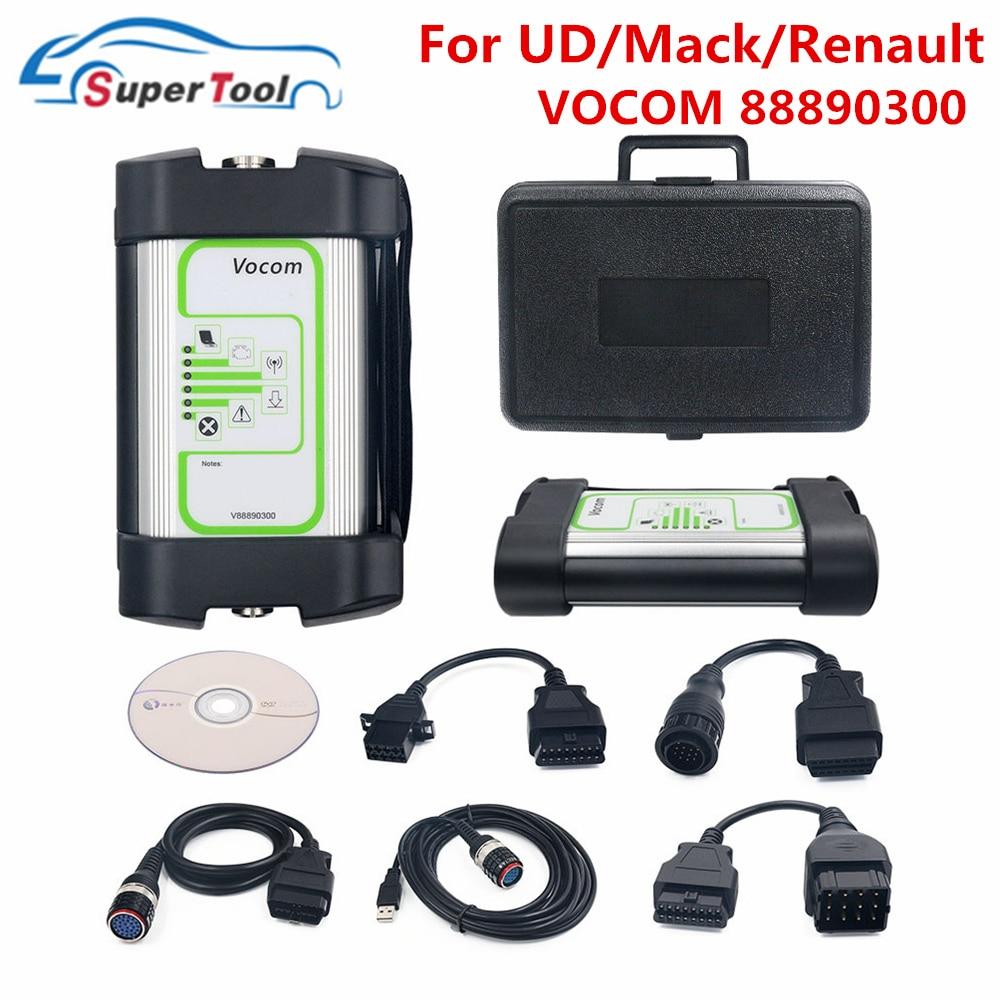 Interfaz de actualización en línea para Volvo Vocom 88890300, escáner de diagnóstico V2.7.9 para Renault/UD/Mack, camión pesado, superventas
