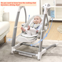 цена на Child dining chair electric coax baby artifact baby rocking blue chair child dining chair multifunctional baby rocking chair