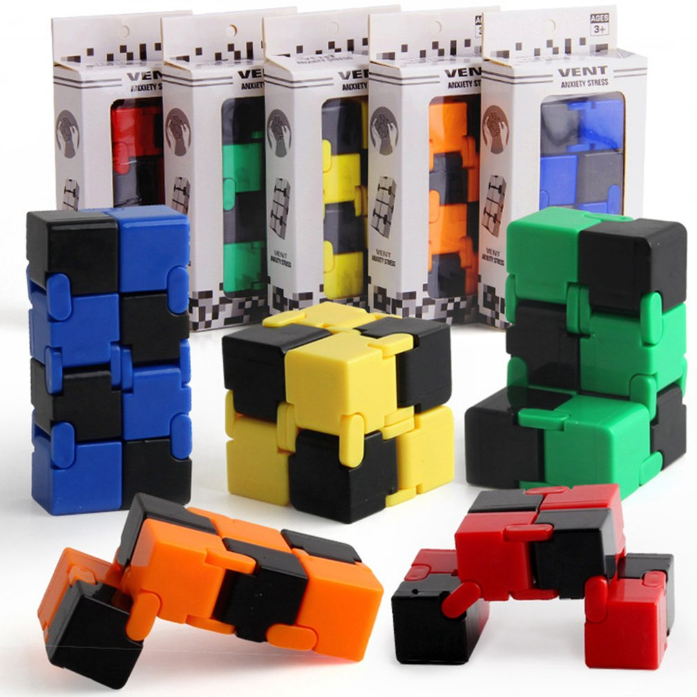 Hot Magic Unlimited Magic Cube Folding Fingertip Decompression Intelligence Cube Puzzle Creative Funny Toy Gift For Kids