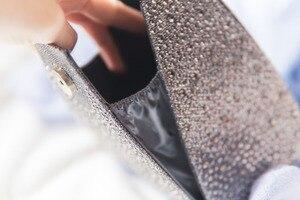 Image 5 - Vintage Diamond Bridal Wedding Purse Mini Grijs Piramide Partij Handtassen Vrouwen Bag Polsbandjes Koppelingen Kristal Avond Clutch Bags