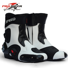 Motorcycle-Boots Moto-Shoes Pro-Biker-Speed Ankle-Joint-Protection Riding Racing BLACK