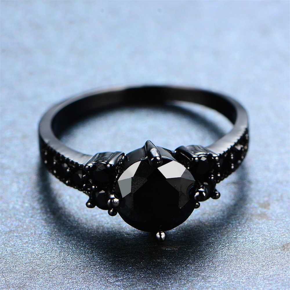 2019 nouveau 925 Anillos argent pierre précieuse, bague de Couple femme/homme, Onyx noir, AAAA Zircon classique bague marque cristal bijoux