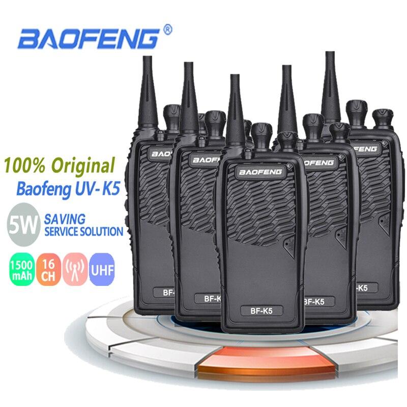 5 шт. 100% оригинал Baofeng радио Comunicador BF-K5 двухстороннее радио Walkie Talkie дети Wakie Tokie Baofeng Bf 888s Радио рация