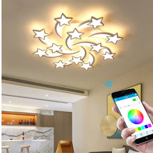 Modern new LED chandelier stars living room lighting supports remote control APP bedroom LED ceiling lamp factory direct sales