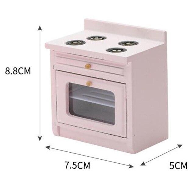 1/12 casa de muñecas accesorios en miniatura Mini estufa de madera modelo simulación muebles de cocina juguetes para la decoración de la casa de muñecas