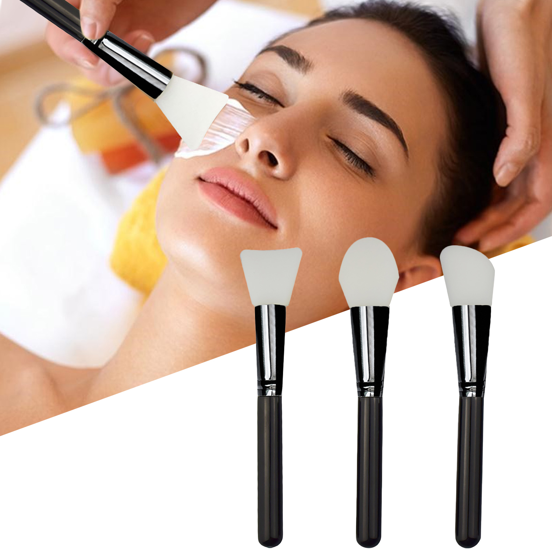 3pcs Hairless Silicone Facial Mud Mask Brush Makeup Cosmetic Beauty Tools For DIY Facial Eye Body Mask Face Mask Mud Applicator