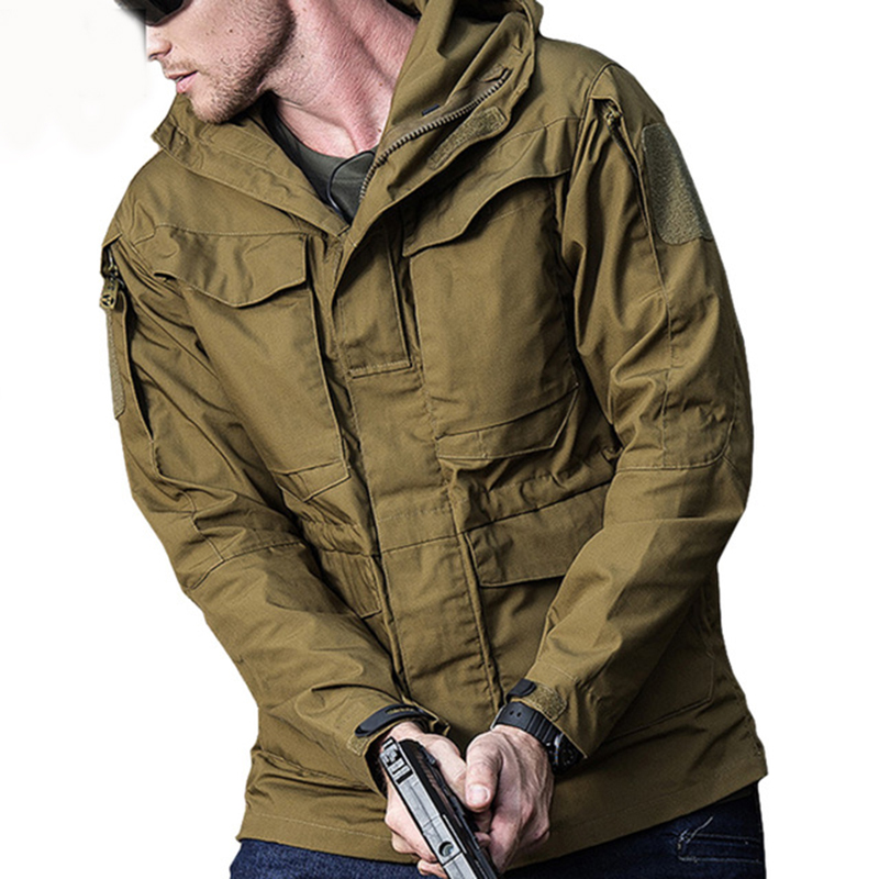 M65 Army Clothes Tactical Windbreaker Men Winter Autumn Jacket Waterproof Wearproof, Windproof, Hiking Jackets