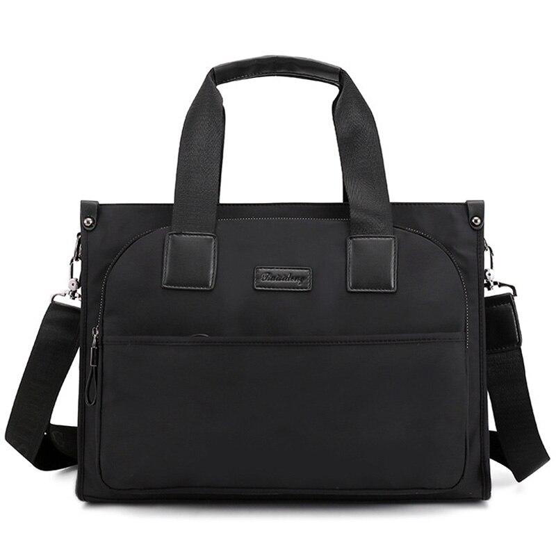 Nylon Bag Portable Work Business Office Male Messenger Bags Men Briefcase For Document Laptop Computer Handbags XA289ZC