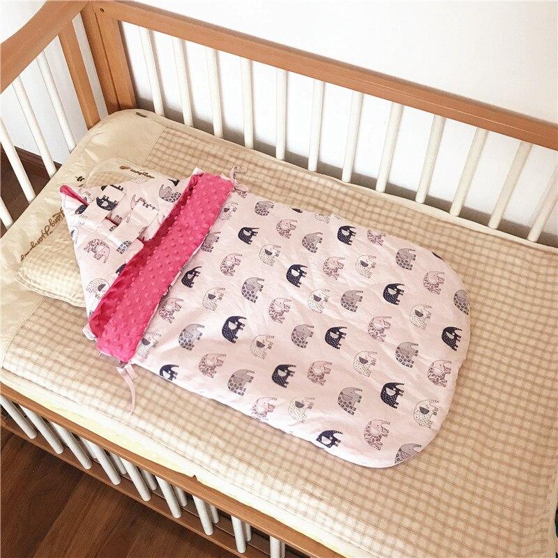 Bébé coton sac de couchage nouveau-né bébé literie automne et hiver épaissi double usage couverture nouveau-né porter sac de couchage