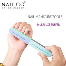 NAILCO Nail File Six-sided Nail Buff Multi-use Buffer Art Frosted Manicure Tools Great Quality Professional Beauty Nail Repair