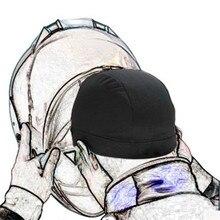 Мотоциклетный шлем Внутренняя крышка мотоциклетный шлем быстросохнущая дышащая шляпа жокейская шапочка под шлем Кепка для шлема потная шапка