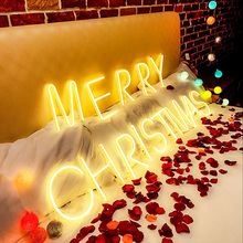 Neon Luminous Characters LED Letter Lights English Digital Proposal Props Confession Lamp Bedroom Decoration Wall Hanging