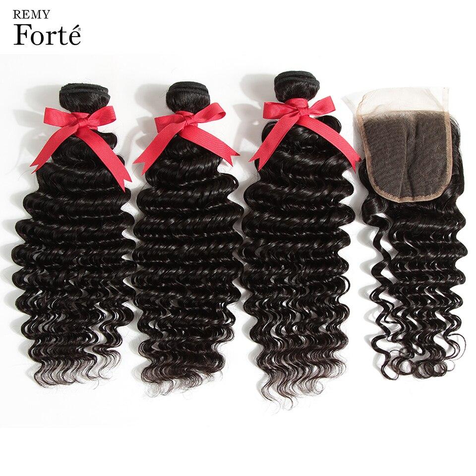 Remy Forte Deep Wave Bundles With Closure Qv Virgin Human Hair 30 Inch Bundles With Closure 3 4 Brazilian Hair Weave Bundles Aliexpress Com Imall Com