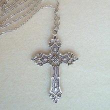 Nova moda christian colares para as mulheres wen presente do vintage grande gótico cruz pingente longo corrente colar gargantilha goth jóias