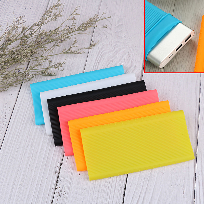 Silicone Protector Case Cover For Xiaomi Power Bank 2 10000 MAh Dual USB Port Skin Shell Sleeve For Power Bank