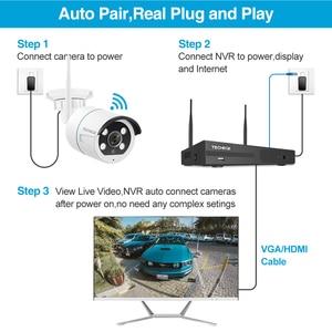 Image 3 - Techege אלחוטי טלוויזיה במעגל סגור מערכת 1080P אודיו שיא 2MP 8CH NVR עמיד למים חיצוני WIFI טלוויזיה במעגל סגור מצלמה מערכת מעקב וידאו ערכת