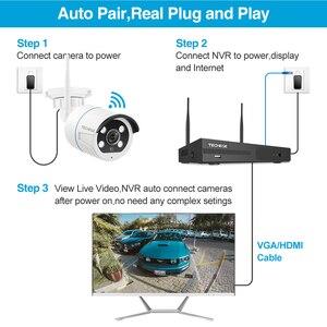 Image 3 - Techege Draadloze Cctv systeem 1080P Audio Record 2MP 8CH Nvr Waterdichte Outdoor Wifi Cctv Camera System Video Surveillance Kit