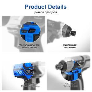 Image 4 - 100NM Elektrische Schroevendraaier 12V Accu Boormachine/Driver Schroef Lithium Batterij Oplaadbare Hexagon Power Tools Door Prostormer