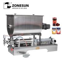 Zonesun chili molho máquina de enchimento máquina de enchimento quantitativa máquina de enchimento de mistura de pasta pneumática