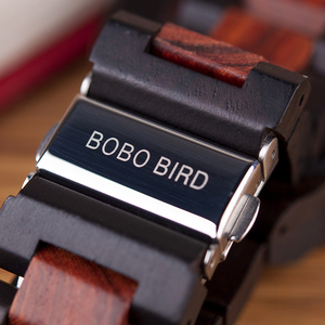 Image 4 - Relogio Masculino BOBO BIRD Mechanical Watch Men Wood Wristwatch Automatic часы мужские relojes para hombre Custom Gift Dropship
