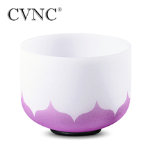 CVNC 10 дюймов B корона фиолетовый лотос Чакра кварцевый Поющая чаша