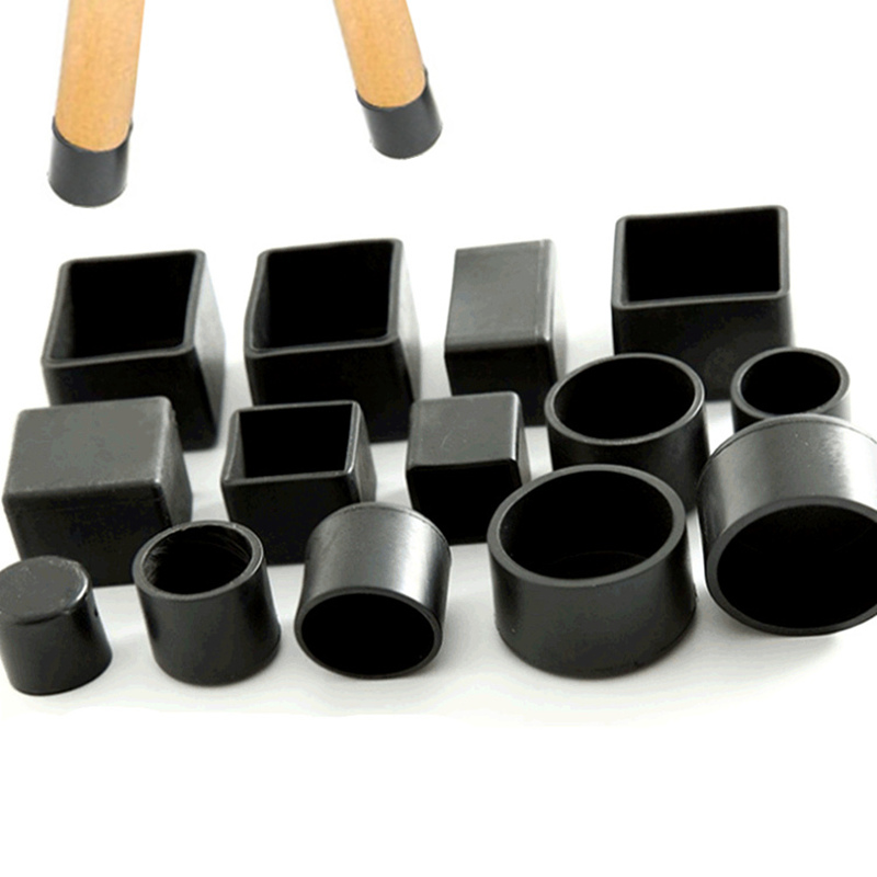 4PCs Black Home Chair Leg Caps Feet Protector Pads Furniture Table Covers Socks Hole Plugs Dust Cover Furniture Leveling Feet