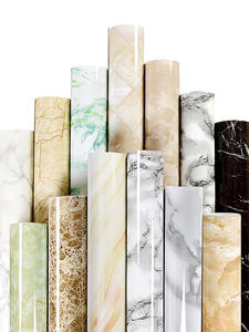 Furniture Stickers Decorative-Film Contact-Paper Kitchen-Cabinets Countertop Pvc Marble