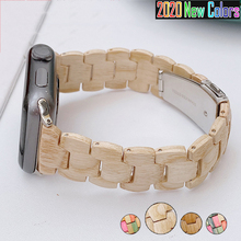 Wooden Loop for Apple Watch Band Series 6 SE 5 4 3 38mm 40mm 42mm 44mm Wristband  Wood Strap for IWatch Bracelet Correa Bands