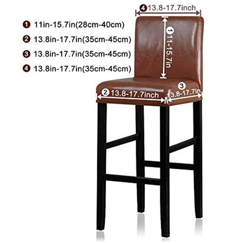 ベルベット弾性椅子カバーのためにバースツールショートバックダイニングルームの椅子カバースパンデックスストレッチための椅子宴会結婚式