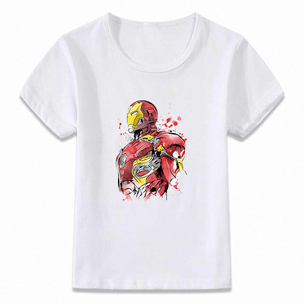 Детская одежда футболка Мстители Железный человек splter Art мальчики девочки футболка для малыша