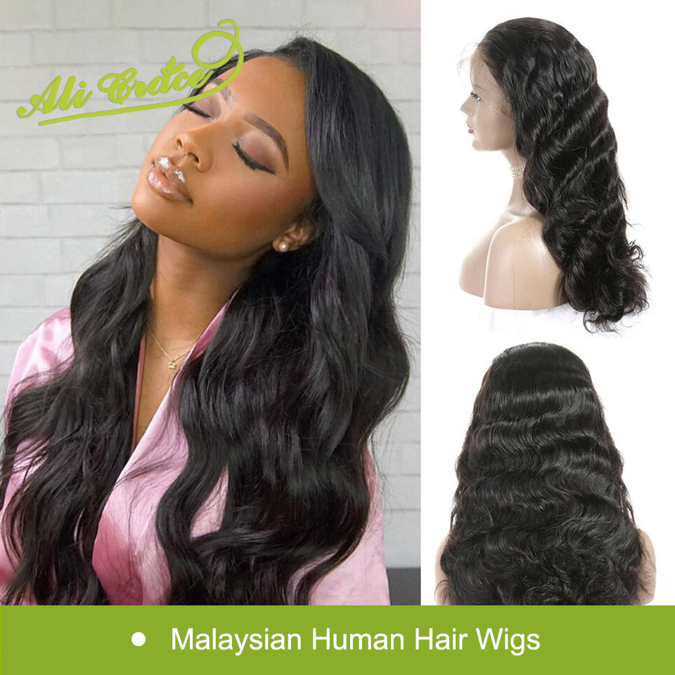 Ali Grace Lace Front Human Hair Wigs with Baby Hair Malaysian Lace Front Wig Body Wave