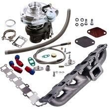 Colector + Turbo cargador para Nissan, turbocompresor interno para Nissan Safari Patrol TD42 TD42T1 GQ GU Y60 T3 T4 T04E. 63 A/R .5A/R