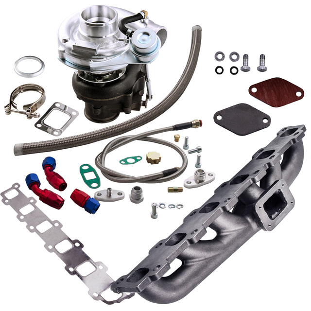 Manifold+Turbo charger for Nissan Safari Patrol TD42 TD42T1 GQ GU Y60 T3 T4 T04E Turbocharger .63 A/R .5A/R Internal Wastegate