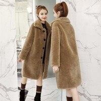 Lamb Wool Teddy Bear Faux Mink Fur Coats Jackets For Female Winter Womens Autumn Coat Parka Women Fourrure Femme Fashion Furs