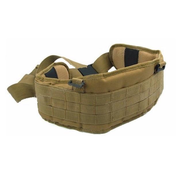 Airsoft huntingTactical gear Padded 1000D Nylon Molle Waist Belt Combat Army Battle mility Cummerbunds For Mens tatico multicam 6