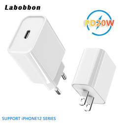 20W Quick Charge USB C PD 2.0 Chargers QC 3.0 USB Type C Fast Charger for iPhone 12 11 XR X Xs 8 Xiaomi Phone Charge
