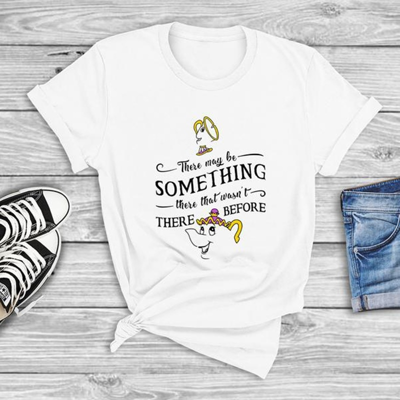 Var olabilir bir şey-güzellik ve Beast gömlek bayan Pott ve çip üstleri gebelik duyuru gömlek