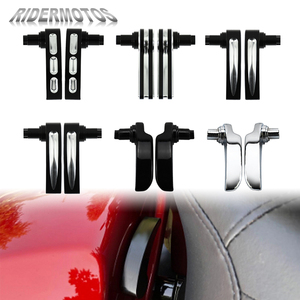 Image 1 - Motocicleta alforje tampa levantador preto/cromo boleto de alumínio para harley touring electra glide estrada glide rua glide 2014 2019