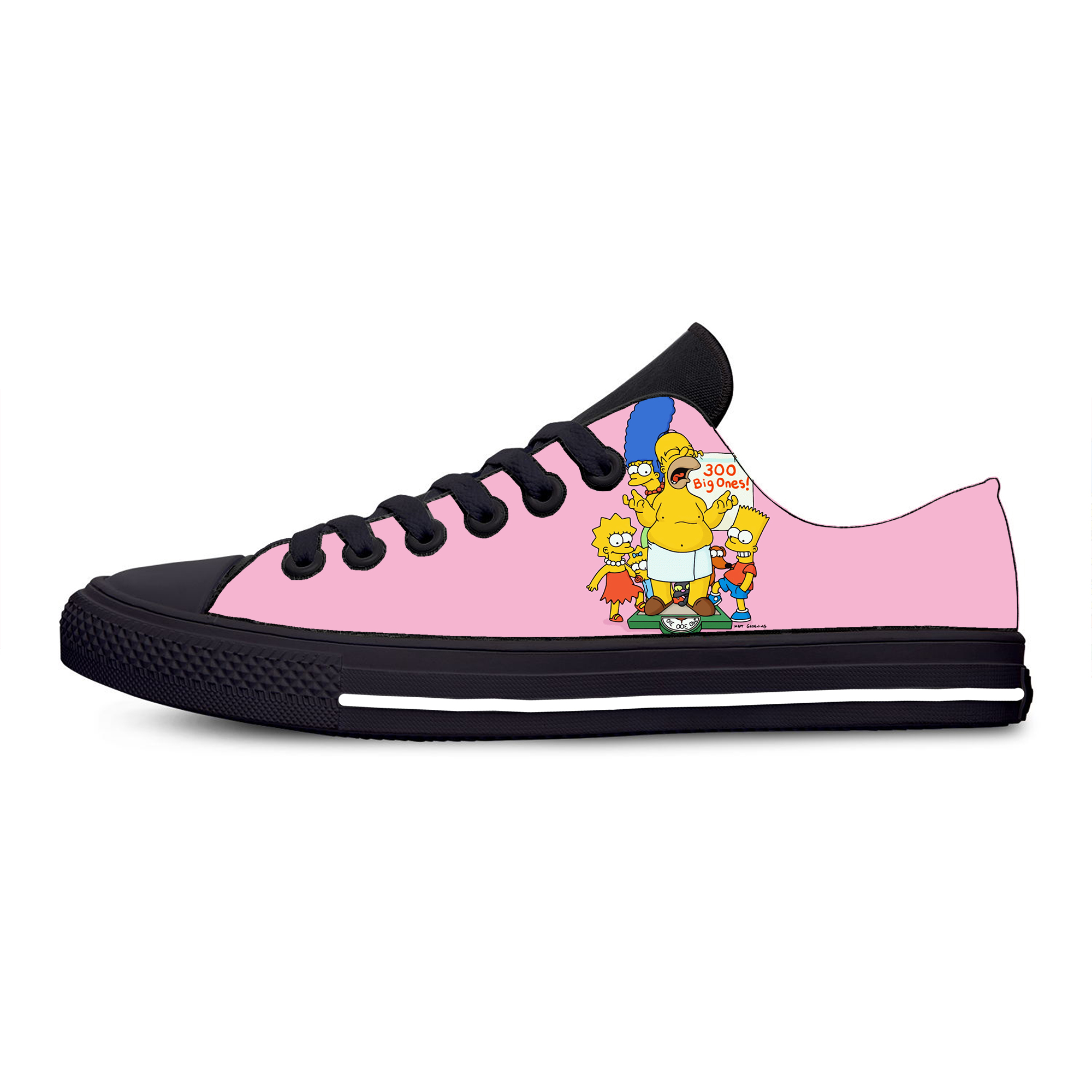 Cartoon Halloween Funny Lace Up Loafers Canvas Skate Shoes for Women Fashion