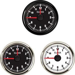 Red Backlight Clock Gauge 0~12 Hours Show Car Boat Instrument Hour Meters Clock Meter fit for 9~32V